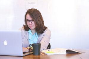 Freelancer working on macbook
